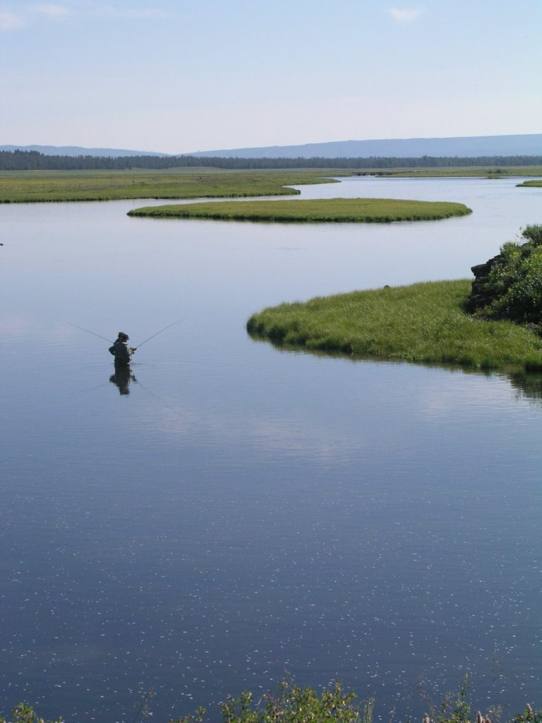 Henrys Fork Angler fishing Henrys Fork River