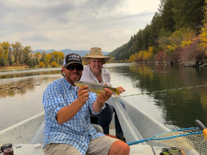 Three Rivers Ranch and TRR Outfitters fly fishing guide, Kerry Fisher